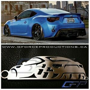 Scion Frs Turbo >> Details About Subaru Toyota Scion Frs Brz Gt86 Stainless Steel Custom Jdm Key Chains Turbo