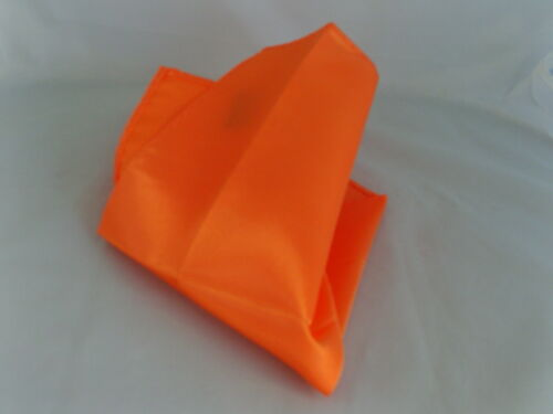 """Neon ORANGE Polyester Hankie 12/"""" x 12/"""" />/> Matching Bow tie are also Availalable"""