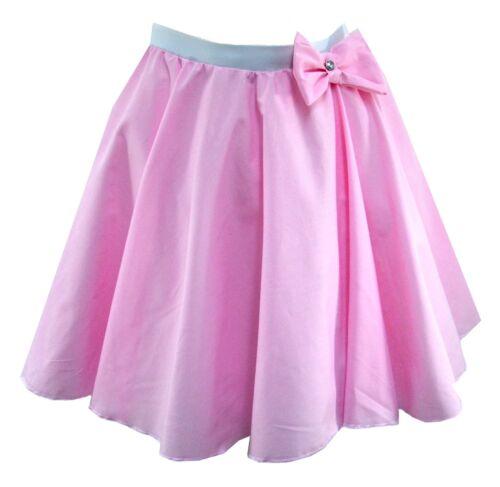 Girls Rock n Roll Full Circle Polka Dot Jive Skirt 50/'s Fancy Dress Pink Ladies