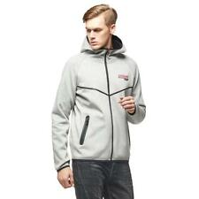 8597f459a Moncler Bonded Cotton Hooded ZIPPED Sweatshirt in Marl Grey Final ...