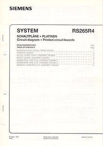 System Rs265r4 Kundendienstschrift Service Manual Schaltplan Gerade Siemens B3429 Fest In Der Struktur