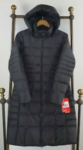 NWT-THE-NORTH-FACE-Medium-Womens-Metropolis-550-Down-Coat-Parka-Jacket-Black
