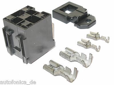 3x6,3 9 Fach Sockel Relais Set Kfz mit Flachsteckern 2x9,5 4x 2,8mm Relai