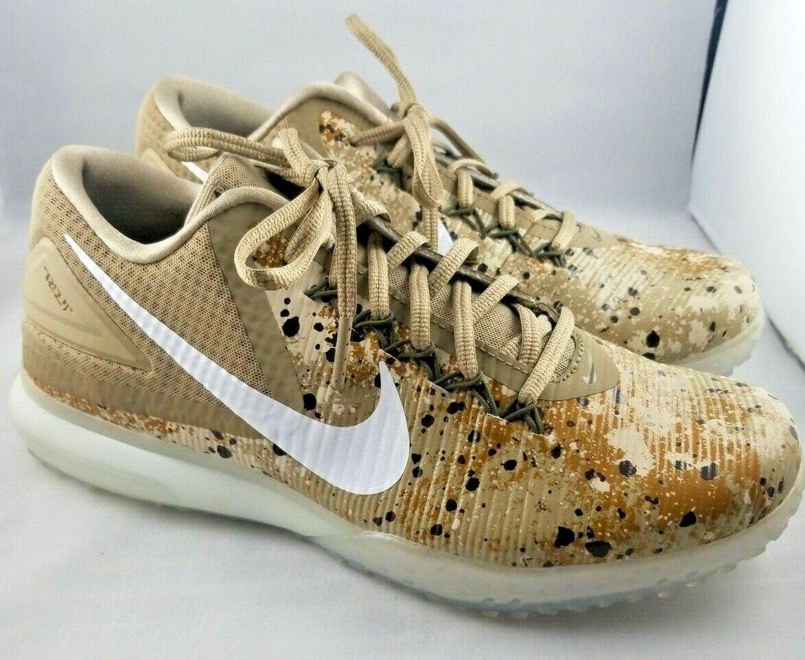Nike Zoom Trout 3 Turf TF Trainer shoes Oatmeal Khaki Camo SZ 8 ( 844628-211  )