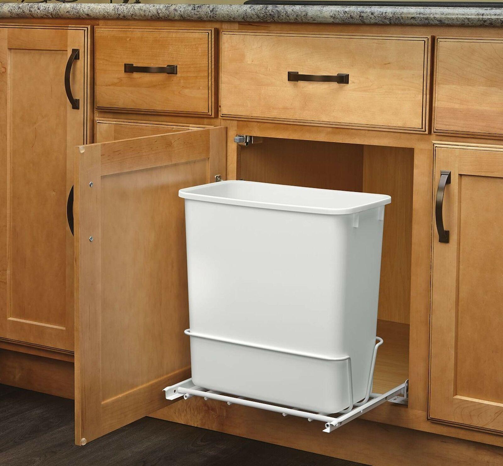 Kitchen Under Sink Cabinet Trash Waste Garbage Can Slide Out Storage Organizer