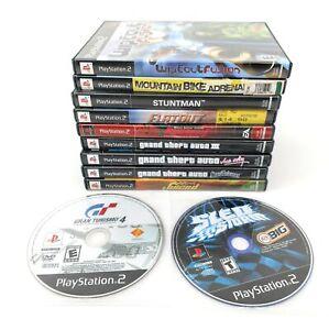 PS2 Playstation 2 11 Game Lot Racing GTA Juiced Flatout Stuntman Wipeout Burnout