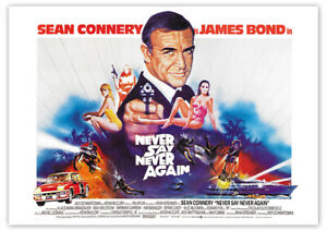 James Bond: Sag niemals nie (Sean Connery) - Filmposter DIN A1
