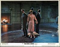 THE DEVIL RIDES OUT/DEVIL'S BRIDE orig 1968 HAMMER lobby card CHRISTOPHER LEE