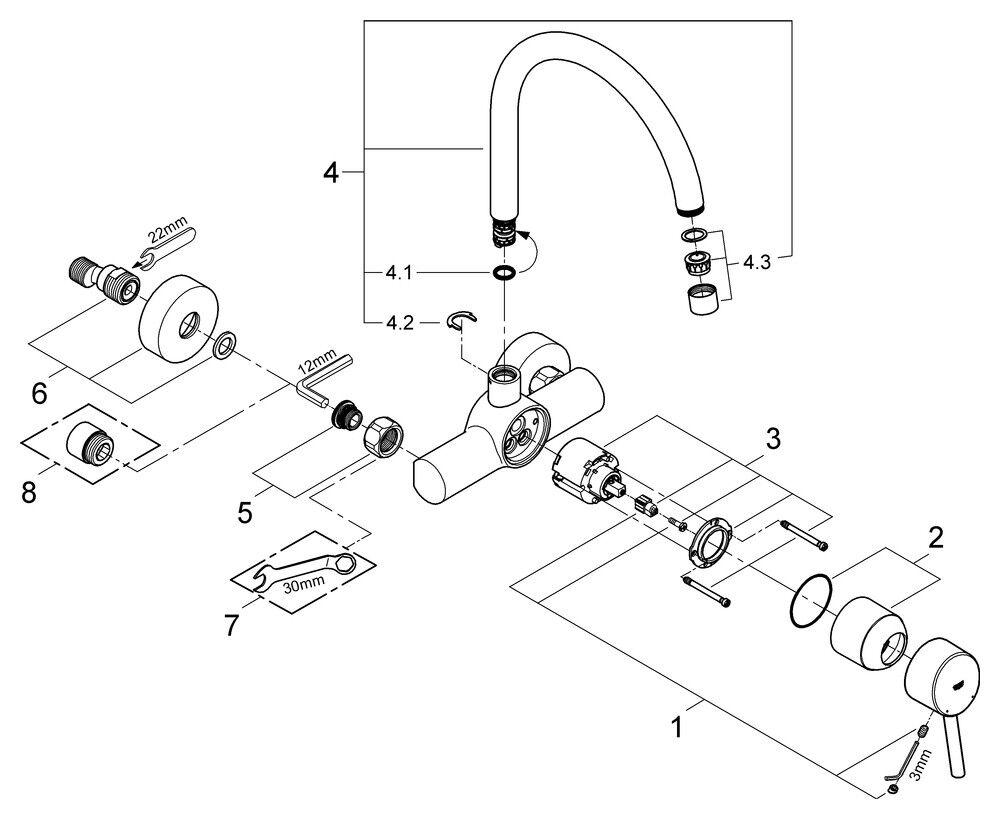 Grohe Einhebel-Spültisch-Batterie Concetto Wandmontage   32667001 | Räumungsverkauf  Räumungsverkauf  Räumungsverkauf  | 2019  | Einzigartig  62e36f