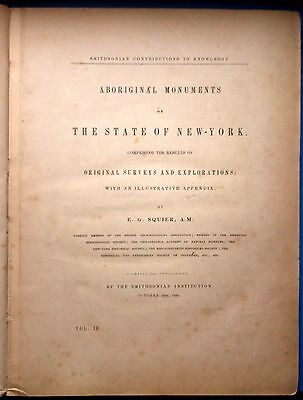 ARCHEOLOGY-ABORIGINAL MONUMENTS OF THE STATE OF NEW-YORK E.G. SQUIER- 1849-L3606