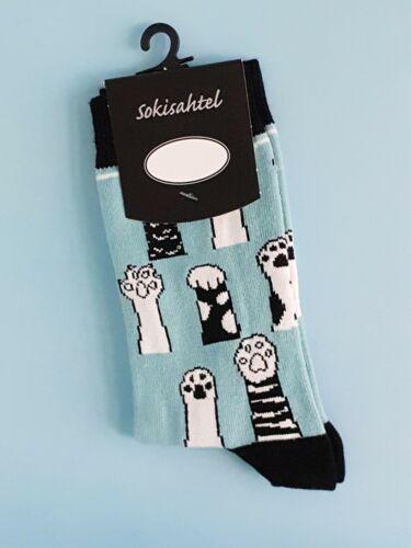 Paws Up Pair Women/'s Cat Socks