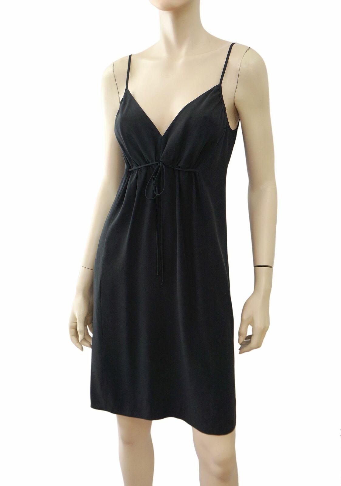 TWELFTH STREET BY CYNTHIA VINCENT schwarz Washed Silk Slip Dress P NEW