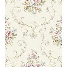 York Wallcoverings Riverside Park FD8471 Frame Bouquet Wallpaper, Beige