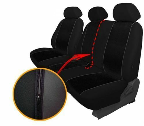 Burgundy Eco-Leather Universal VAN Seat Covers 2+1 for FORD TRANSIT