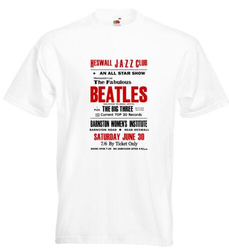 The Beatles Concert Poster T Shirt Heswall 1962 John Lennon Paul