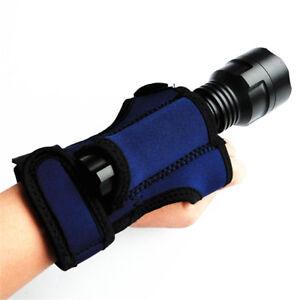 Underwater Scuba Diving Torch Light Holder Hand Arm Mount Glove Hand Free
