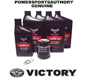 2006-2015 Polaris Victory 100 & 106 Cubic Inch Motor OEM Oil Change Kit 2879600