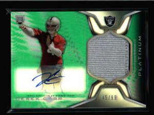 DEREK-CARR-2014-TOPPS-PLATINUM-GREEN-ROOKIE-JERSEY-PATCH-AUTO-RC-45-99-FC2298