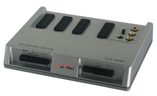 Cinch S-VHS Video-Umschaltpult für Scart
