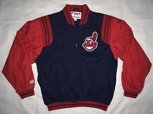 5f1d257e VTG 90's Cleveland Indians Blue/Red w Chief Wahoo QTR Zip Pullover ...