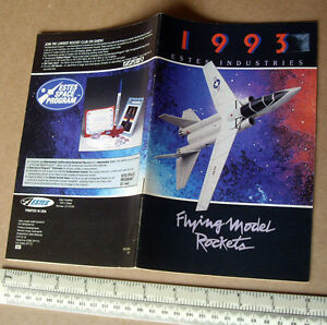 1993 Estes USA Catalogue Flying Model Rocket Kits & Engines. UK Edition
