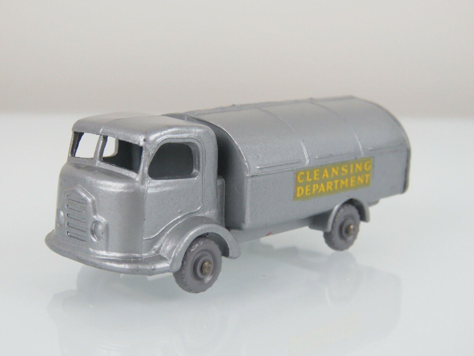Lesney Matchbox Vintage 1957 Karrier Refuse coleccionista de argento con ruedas grigio