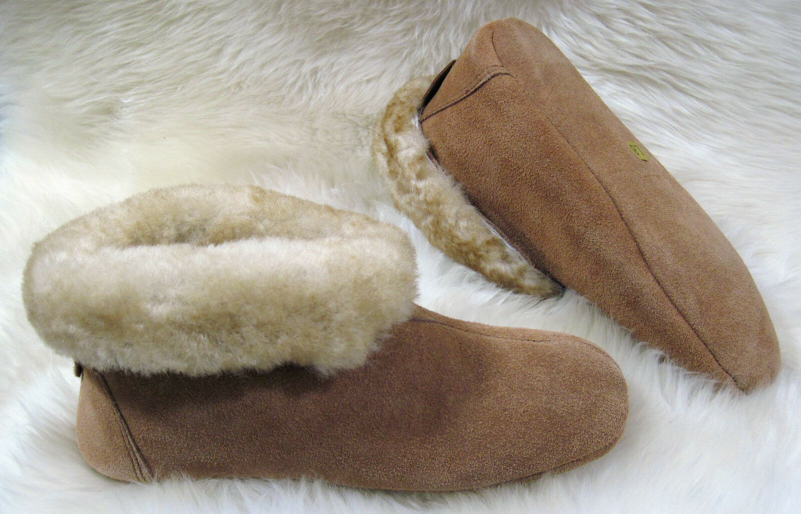 Uomo Sheepskin Slipper Soft Sole Pelle size 8 9 10 11 12 13 14 Wool House Boot