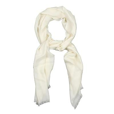 Gucci white wool Silk GG Logo Oversized Scarf Wrap NEW