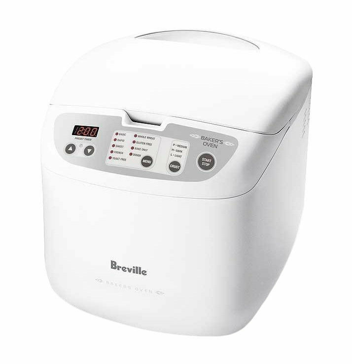Breville BBM100WHT the Bakers Oven Bread Maker with 23 Programs - RRP  139.95