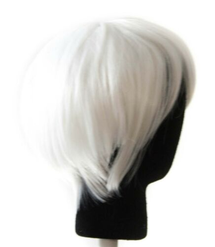 11/'/' Short Straight Men/'s Cut with Long Bangs Snow White Wig Cosplay NEW