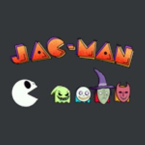 Jac-Man Pac Jack Skellington Pun Boogie Man Devil Skeleton Ghost Halloween Game