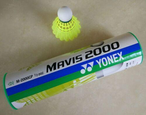 Yonex Mavis 2000 Badminton Nylon Shuttlecock M-2000CP 1//2DOZ green slow