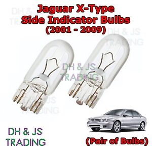 Jaguar X-Type White LED /'Trade/' Wide Angle Side Light Beam Bulbs Pair Upgrade