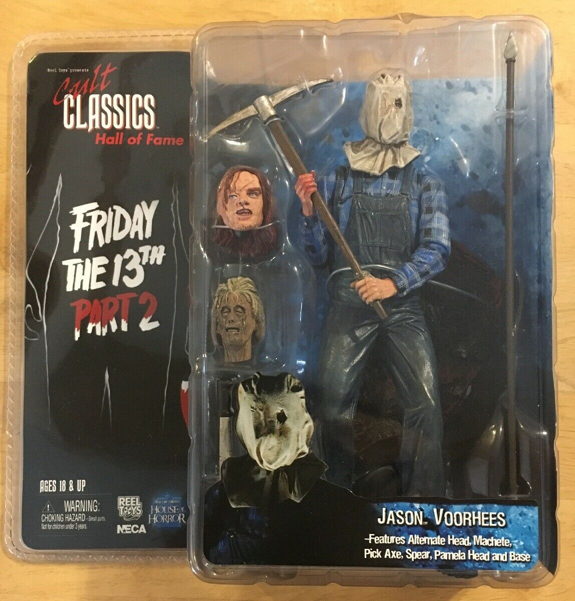 NECA Cult Cult Cult Classics Hall Of Fame Friday the 13th Part 2  Jason Voorhees Action... 40d352