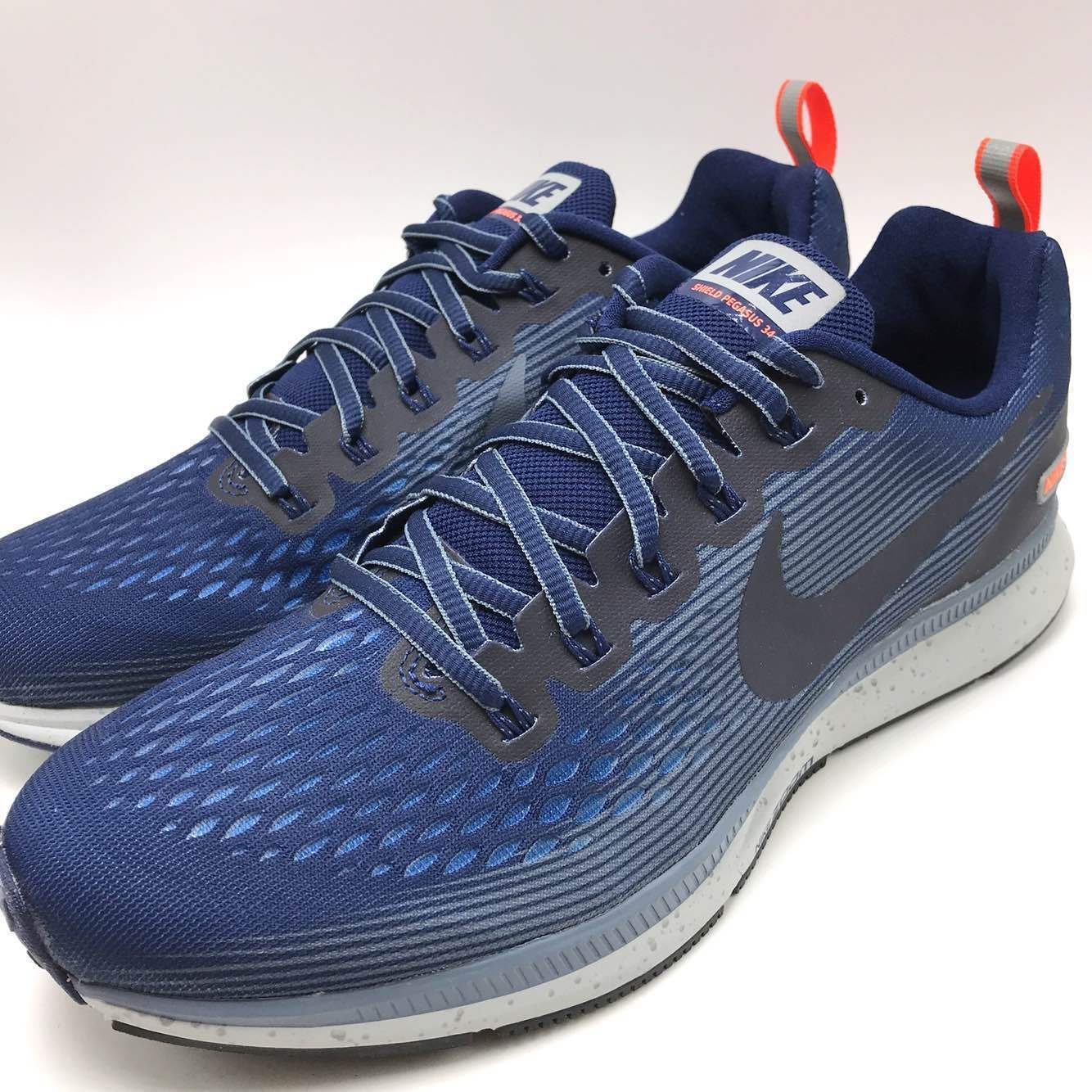 Nike Air Zoom Pegasus 34 Shield Men's Running Binary bluee Obsidian 907327 400