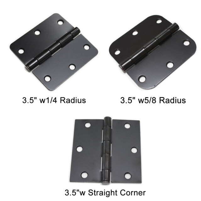 Pack of 21 W2Ent 3.5 x 3.5 Oil Rubbed Bronze Door Hinges with 5//8 Radius Corners