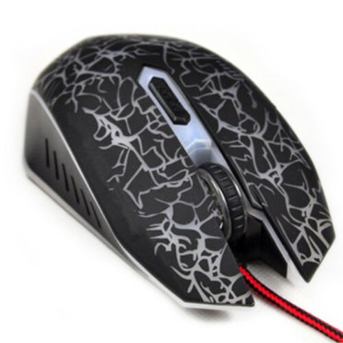 Cool 4000 DPI Mice 6 LED Buttons Wired USB Optical Gaming Mouse For Pro Gamer Al