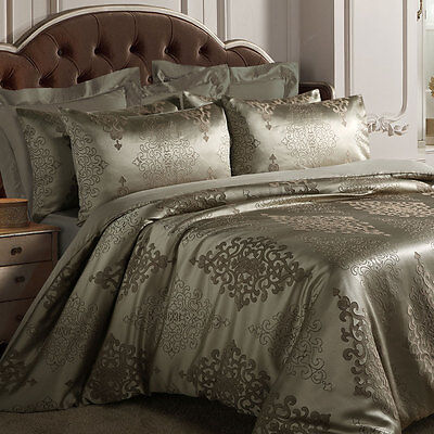 Dali Quilt Doona Duvet Cover Set 400TC Luxury Bedding Bronze Grand Atelier New