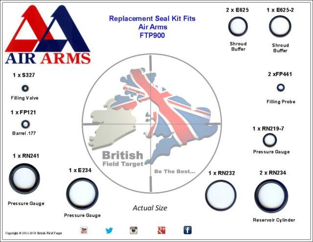 Full Premium Seal Service kit Fits Air Arms FTP900 0.177 Cal
