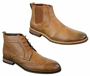 bottines hommes marron cuir