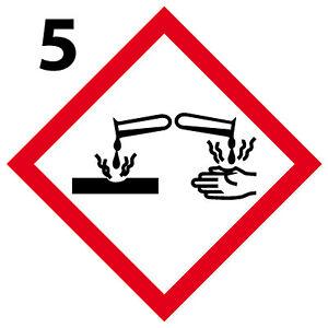 Acide Lot 4 Stickers Autocollant Danger Interdit Obligatoire [10cm] Ghs 05 Le Plus Grand Confort