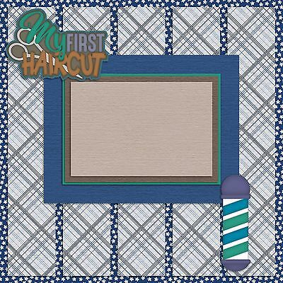 2 Premade Scrapbook Pages SLEEPOVER BOY EZ Layout 491