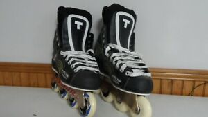 New-Tour-TR551-Hockey-Skates-Size-6-with-Labeda-Invader-Wheels