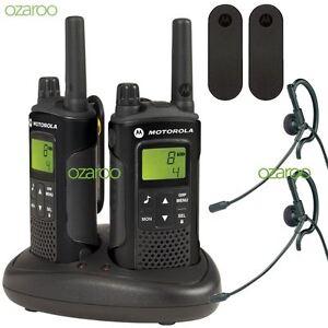 Motorola-XT180-2-Way-Walkie-Talkie-Business-Radio-PMR446-Black-Charger-Twin-Pack