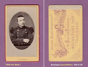 CDV-GRAVELEAU-a-ROCHEFORT-S-MER-MILITAIRE-D-039-ARTILLERIE-VERS-1890-S29