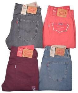 Levis-502-Jeans-Men-039-s-Regular-Fit-Taper-Stretch-Pants-Choose-Size