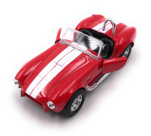 Shelby Cobra Modellauto Cabrio Sportwagen Oldtimer Auto Rot Maßstab 1:34