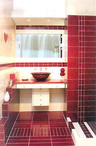 Fliesen Fußboden Überzug Badezimmer Fac Weiß Rot X X EBay - Fliesen 10 x 30 weiß
