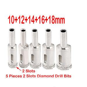 10 X 3-18mm Diamond metal drill bits set hole saw cutter tool glass marble@@