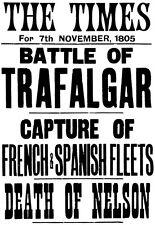 Art Print Times Battle of Trafalgar Nelson Death Poster